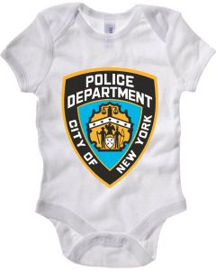 Body Neonato Bianco TM0214 New York City Police Department flag