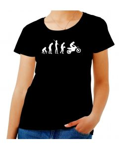 T-shirt Donna Nero EVO0044 MOTOCROSS EVOLUTION