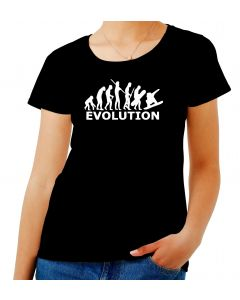 T-shirt Donna Nero EVO0052 SNOWBOARD EVOLUTION