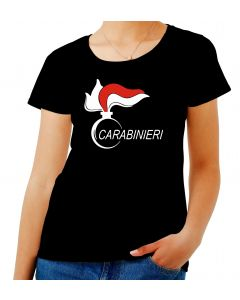 T-shirt Donna Nero OLDENG00436 carabinieri
