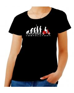 T-shirt Donna Nero OLDENG00487 evolution scooter