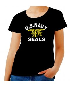 T-shirt Donna Nero OLDENG00705 us navy seals