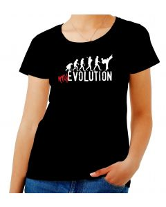 T-shirt Donna Nero T0588 evolution kickboxing