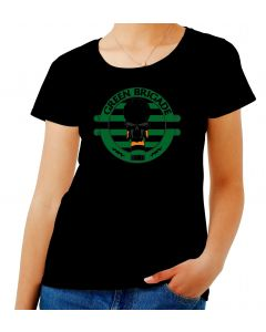 T-shirt Donna Nero TUM0011 ultras celtic green brigate