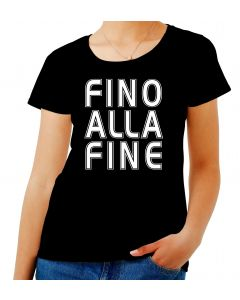 T-shirt Donna Nero WC1532 FINO ALLA FINE ULTRAS