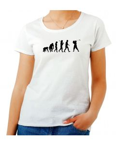 T-shirt Donna Bianca OLDENG00068 EVOLUTION OF GOLF