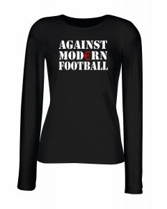 T-shirt manica lunga Donna Nera TR0002 Against Modern Football T-Shirt Ultras, Fussball, ACAB, Hooligan, Anti