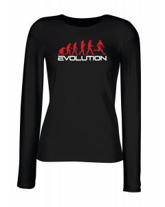 T-shirt manica lunga Donna Nera WES1124 EVOLUTION OF RUGBY