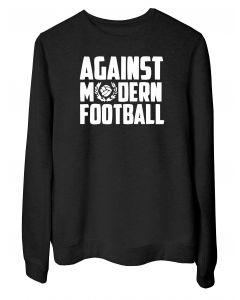 Felpa Girocollo Donna Nera TUM0161 AGAINST MODERN FOOTBALL