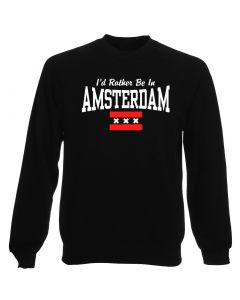 Felpa Girocollo Uomo Nera TSTEM0177 id rather be in amsterdam