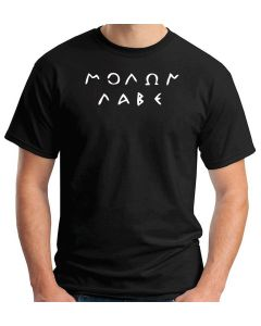 T-shirt Uomo Nero TM0694 molon labe original