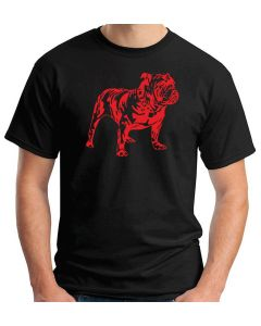 T-shirt Uomo Nero WES0565 42 BULLDOG 2 DOG