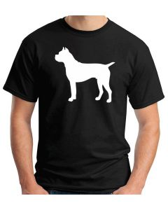 T-shirt Uomo Nero WES0602 79 GERMAN BOXER DOG SILHOUETTE