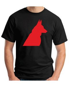 T-shirt Uomo Nero WES0604 81 GERMAN SHEPHERD DOG SILHOUETTE