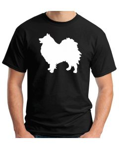 T-shirt Uomo Nero WES0605 82 GERMAN SPITZ DOG SILHOUETTE