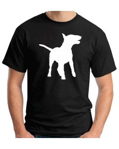 T-shirt Uomo Nero WES0662 139 SILHOUETTE ENGLISH BULL TERRIER DOG