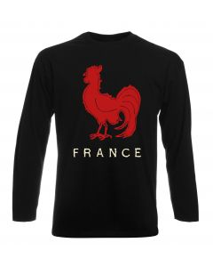 T-shirt manica lunga Uomo Nera TRUG0091 ruggershirts france rugby vintage mens fitted ts logo