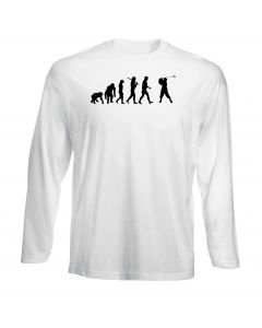 T-shirt manica lunga Uomo Bianca OLDENG00068 EVOLUTION OF GOLF