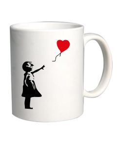 Tazza 11oz Bianca TX0012 banksy   balloon girl 31