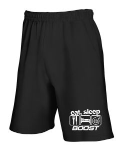 Pantaloncini Tuta Nero TB0250 Eat Sleep Boost Funny Mens Turbo Car