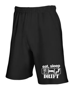 Pantaloncini Tuta Nero TB0251 Eat Sleep Drift Funny Car