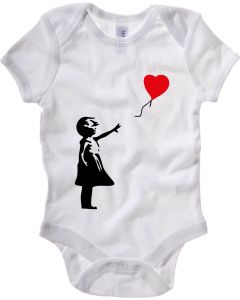 Body Neonato Bianco TX0012 banksy   balloon girl 31