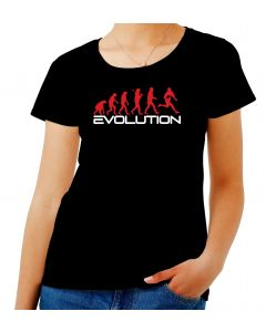 T-shirt Donna Nero WES1124 EVOLUTION OF RUGBY