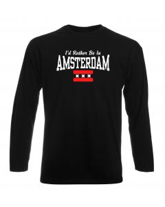 T-shirt manica lunga Uomo Nera TSTEM0177 id rather be in amsterdam