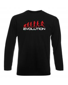 T-shirt manica lunga Uomo Nera WES1124 EVOLUTION OF RUGBY