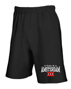 Pantaloncini Tuta Nero TSTEM0177 id rather be in amsterdam